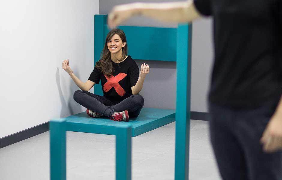 Museum of illusions tbilisi chair illusion